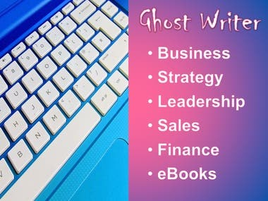 Ghost Writer Services