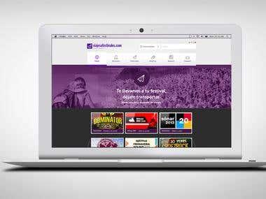 Viajes festivales web