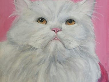 customised pet portrait.