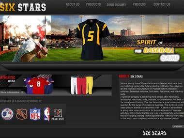Six Star Sports (HTML Website Design)