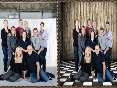 Family/Group background remove