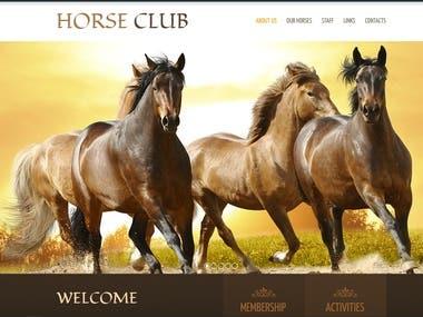 Vue, Flask  Horse Club Site