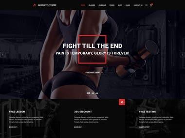 Vue, Flask   Fitness WebSite