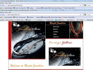 Website for a jewellery shop
