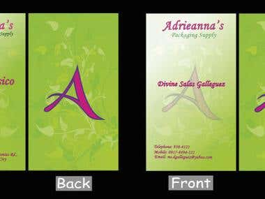 Layout Design for Adrieanna's Packaging Supply