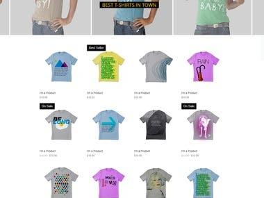Online website store