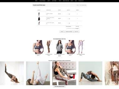 Shopify store modification