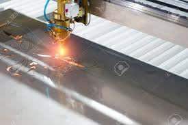 Laser cutting machine.