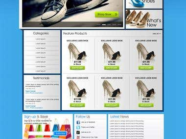 Website Home page Graphic Design