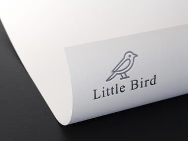 Little bird logo design and icon design