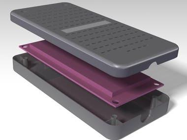 Plastic case for PCB