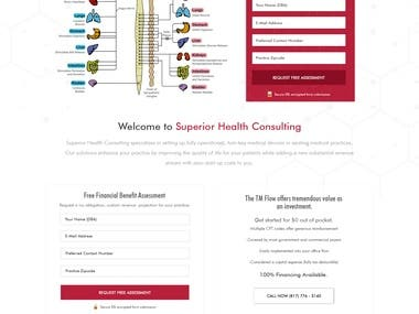 Home Page PSD for Medical Website