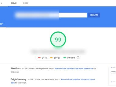 Site optimize as per google page insights