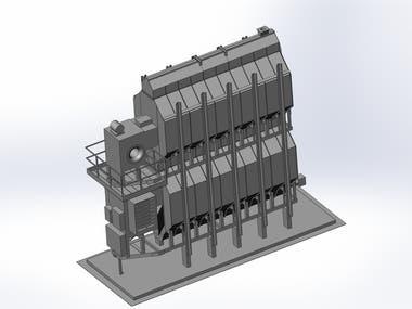 Grain Bin Dryer, Centrifugal, Model