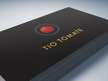 "Business card design for ""Tio Tomate"", a pizza place"