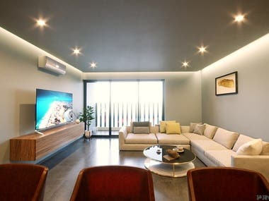 3d Living Room Renderings