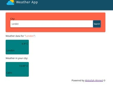 Reactjs weather webapp