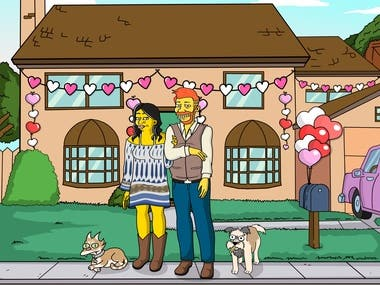 draw in simpsons cartoon style