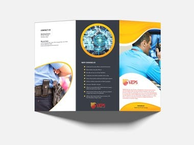 Tri Folded Security System Brochure