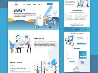 Careflix Web UI/UX Design