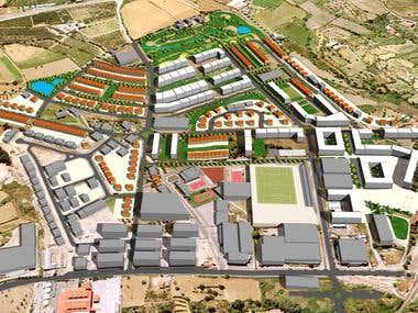 Urbanization in Covilha, Portugal