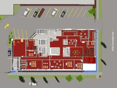 Sketch up model-building interior and exterior