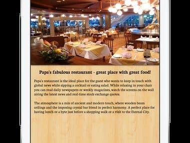 Restaurant app ( iOS )