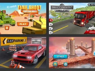 Unique Game UI Design