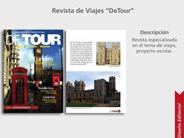 "Editorial Design ""DeTour"" Magazine"
