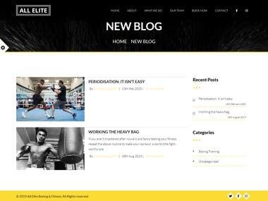 Wordpress Custom Blog Template Creation
