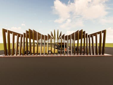 CAD DRAWINGS AND RENDERINGS OF INSTITUTE GATE PROJECT