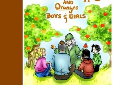 "children book illustrations ""APPLES and ORANGES"""