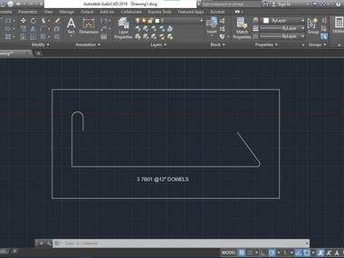 Autocad plugin to draw bending rebars