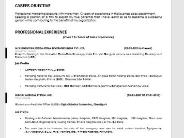 CV | Resume | Bio-data