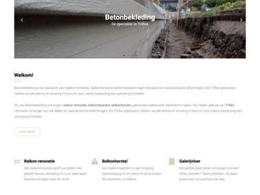 Betonbekleding website