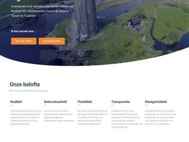 Uniprojecten website