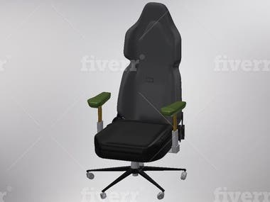 Gaming chair 3D modeling