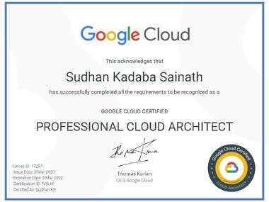 Google Cloud Certified Professional Architect