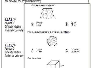 Math Questionaire