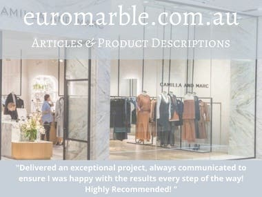 Articles & Product Descriptions