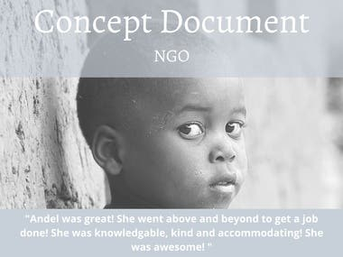 Create Concept Document for NGO
