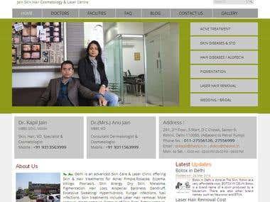 Skin Care & Laser Clinic website