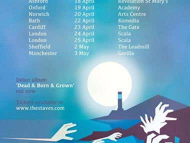 The Staves tour poster