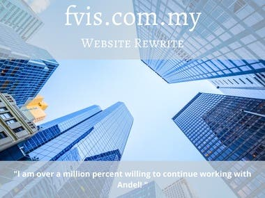 Website Rewrite plus Company profile