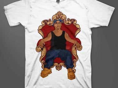T-shirt illustration for Dope Arrival