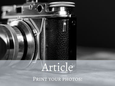 Humorous Article: Print Your Photos!