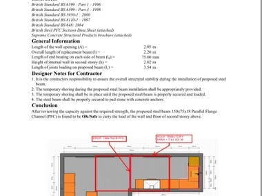 DESIGN OF STEEL BEAM FOR LOAD BEARING WALL REMOVAL