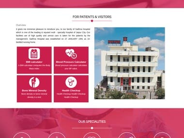 Hospital Website Developed in Php, www.sadhnahospital.com