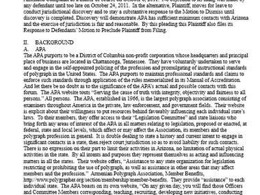 Legal Writing - Motion to Dismiss (Demurrer)