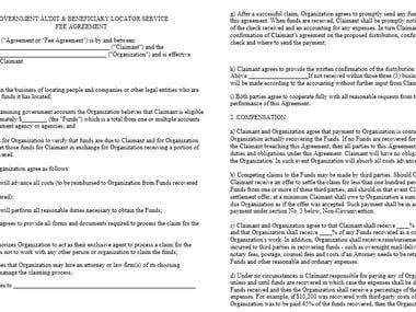 Legal Writing - Fee Agreement